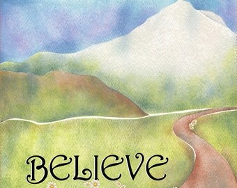 "AP6.18 - Believe - 6"" Fabric Art Panel"