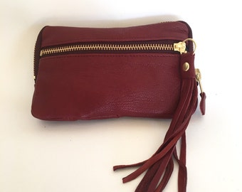 Classic Leather wallet in burgundy