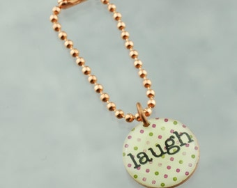 Laugh Planner Charm, Traveler's Notebook Charm, Purse Charm, Happy Planner Charm