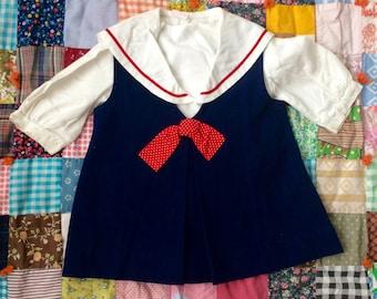 70s Sailor Dress 2T
