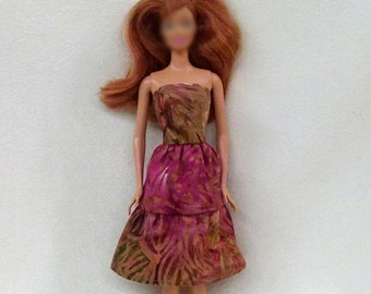 "Handmade 11.5"" Fashion Doll Clothes - batik print"