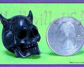 Beelzebub Buffalo Horn Skull Beads