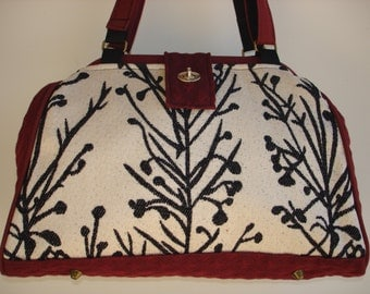 Bella Handbag/Knitting Bag/Crochet Bag/Project Bag-WINTERSCAPE