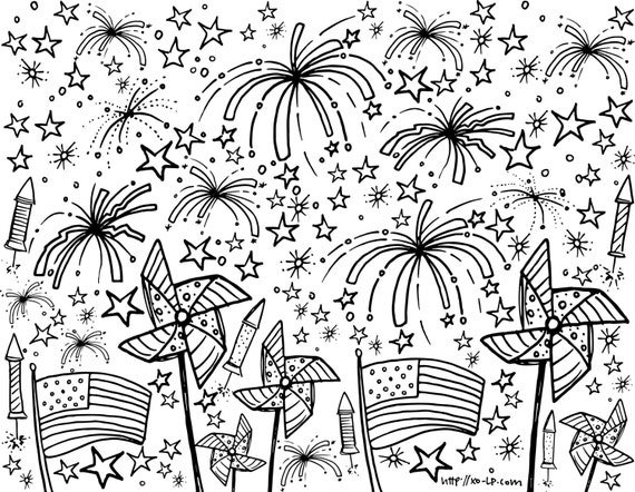 free printable 4th of july coloring pages for adults | Unavailable Listing on Etsy