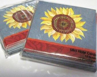 Sunflower Note Cards with Envelopes (24) Blank Inside