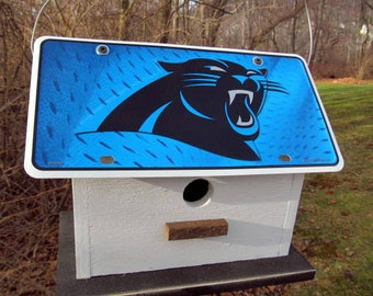 Carolina Panthers Football License Plate Birdhouse Fully Functional NFL