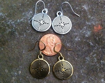 Chartres Labyrinth Earrings (small)