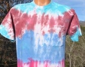 vintage 80s pocket tee shirt BVD tie dye soft psychedelic t-shirt Medium Large