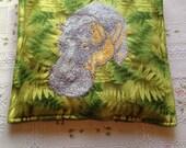 Hippo Embroidery Potholder
