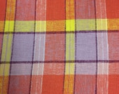 Adorable Vintage Plaid Fabric -  3 7/8 Yards