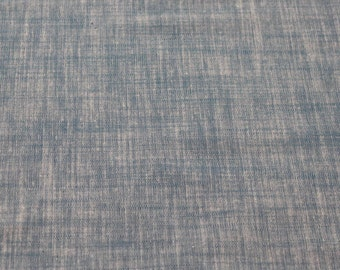 Lovely Blue Cotton/Spandex Chambray Fabric - 1 1/4 Yard - Cotton Fabric / New Fabric / Chambray by Yard / Garment Fabrics / LAST PIECE!