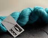 Lagoon  SW Merino / Tencel turquoise fingering weight yarn
