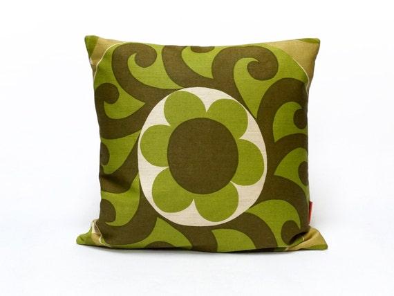 Modern Green Pillow Cover : Green Mid Century Modern Retro Pillow Cover Cushion Cover