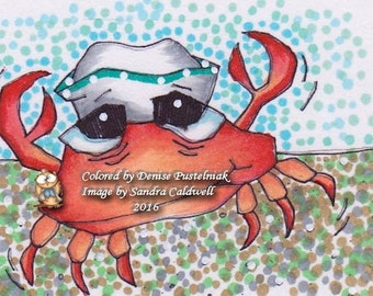 42 Crab Sailor Digi Stamp