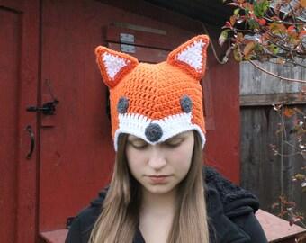 Fox Crocheted Beanie