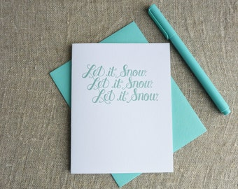 Letterpress Winter Season Card - Let It Snow - SEA-151