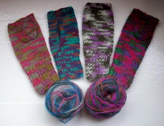 Knitting Gloves For Beginners Fingerless : Beginner knitting kit hand warmers fingerless gloves