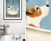 Jack Russell dog bath soap Company vintage style artwork by Stephen Fowler Giclee Signed Print UNFRAMED