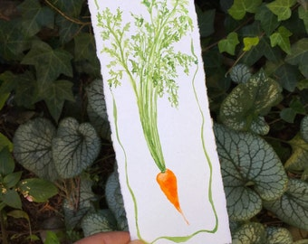 Carrot Tiny Original Watercolor Painting Free shipping