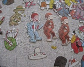Vintage Curious George Paper Dolls and Lots of Outfits