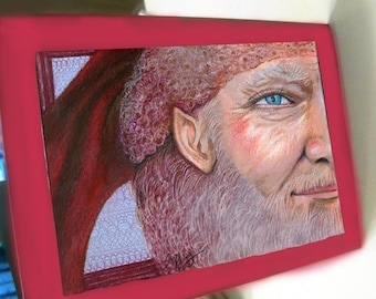 greeting card christmas card santa claus elf