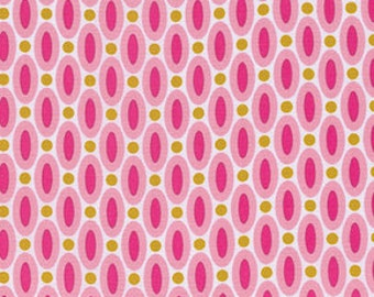 Polka Dot fabric, Pink fabric, Cotton Fabric by the Yard, True Colors fabric, Dots in Pink by Joel Dewberry, Choose your cut