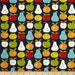 Sale fabric, 6 dollars/yard sale, Blue Fabric, Fruit fabric, Garden Project fabric, Moda fabrics, Cotton fabric by the yard, Choose your cut