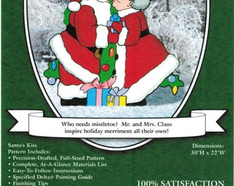 PATTERN Kissing Santa & Mrs. Clause Christmas Yard Art Woodworking Plans by Sherwood Creations