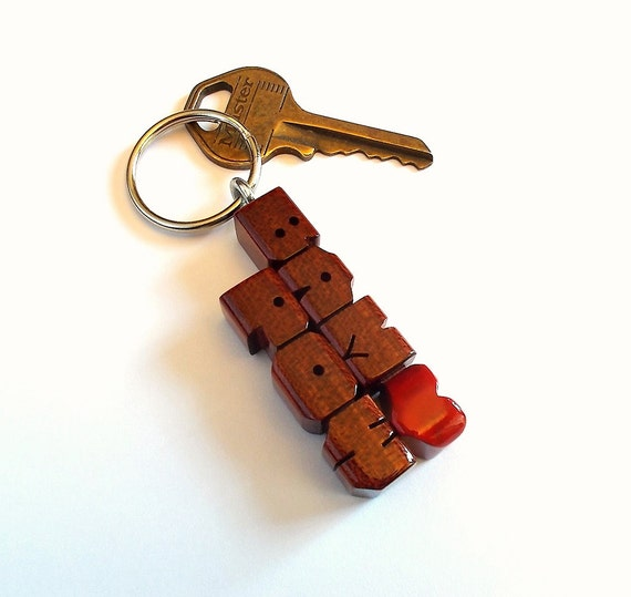 blood wood names keychain custom carved to by dustynewt