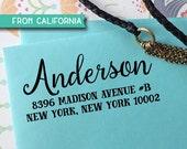 CUSTOM ADDRESS STAMP - Self inking Stamp, Rubber Stamp, Return Address stamp, Personalized Stamp, rsvp address stamp, Wedding Stamp 297