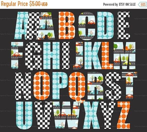Car Auto Digital Alphabet Clip Art Images