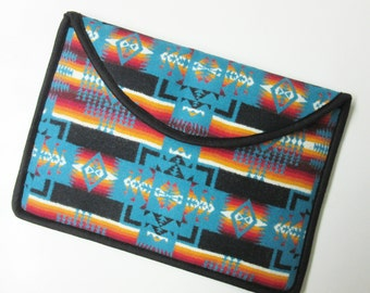 "15"" Macbook Pro Retina Display Laptop Cover Sleeve Case Padded Blanket Wool from Pendleton Oregon Native American Print"
