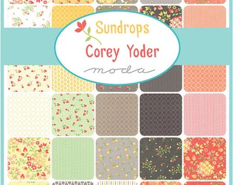 """Moda SUNDROPS Precut 5"""" Charm Pack Fabric Quilting Cotton Squares Corey Yoder 29010PP"""