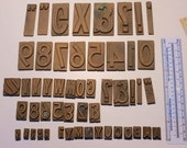 51 NUMBER PLATES Printing letterpress BLOCKS