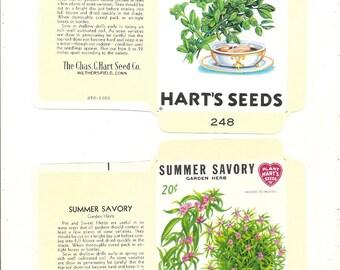 13  Vintage FLOWER / VEGETABLE Unfolded Vegetable Seed Packs
