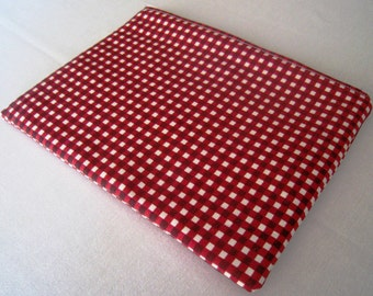 """Red and White Gingham - Macbook 13"""" Air or Macbook 13 Inch Pro - Laptop Case - Laptop Sleeve - Cover - Bag - Padded and Zipper Closure"""