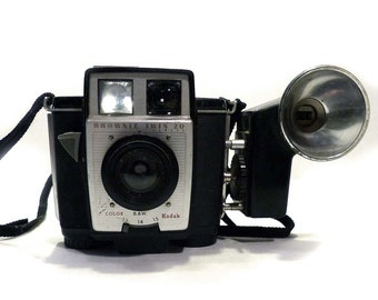Vintage Kodak Brownie Twin 20 with Flash Attachment 1959 = 1964