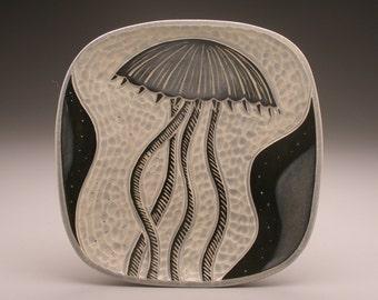 Jellyfish2- large square plate- Ruchika Madan