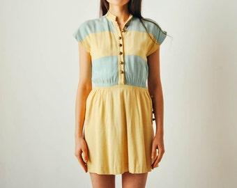 Vintage Wide Striped Mini Dress