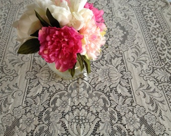 Very Beautiful Antique Tablecloth - Very Large