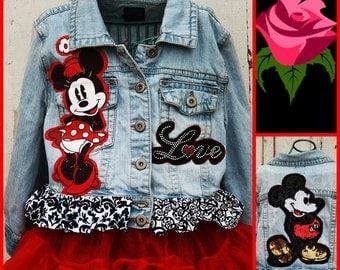 Disney Mickey and Minnie Denim Jacket, Disney Denim Jacket