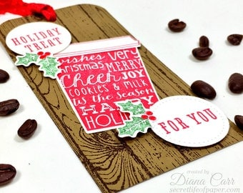 Extra Large Holiday Gift Tags - Christmas Gift Tags - Coffee Gift Tags - Coffee Favor Tags - XL Tags - Coffee Cup Tags - Christmas Wrapping
