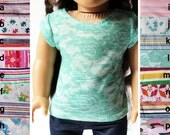 Doll Clothes Fits American Girl Doll - Cap-Sleeve Tee, You Choose Print