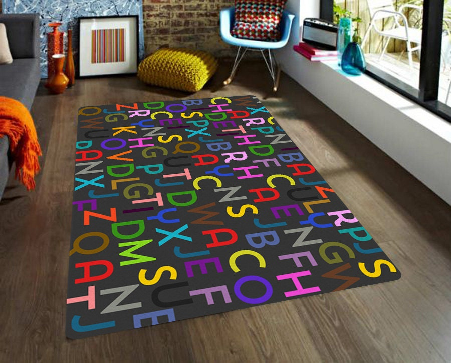 Kids Area Rugs Letters Rug Alphabet Rug Educational Rug