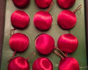 Miniature Vintage Satin Christmas Balls