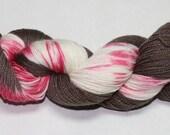 Peppermint Bark Hand Dyed Sock Yarn