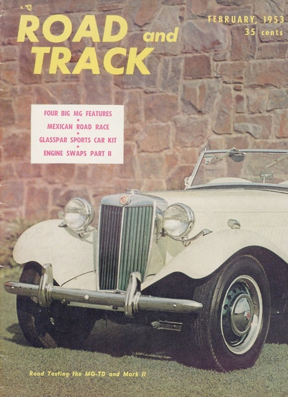 February 1953 Vintage Road and Track Magazine Vol 4 No 6
