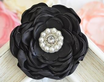 New! 2pcs Handmade Silk flowers--black (FB1071)