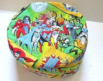 DC Comics Bucharian kippah superheros yarmulke--The Justice League--Wonder Woman, Batman, Superman, The Flash and more