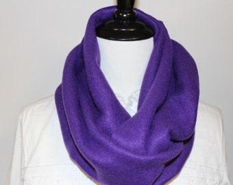 Women's Fleece Infinity Scarf Purple